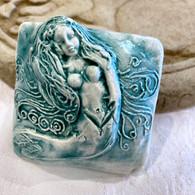 JOHN DAVIS RAKU One Mermaid Spirit Rattle