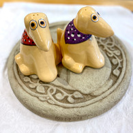 Yellow Lab Rescues Salt & Pepper Handcrafted ceramic set handmade in the USA