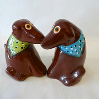 PALMER ART Chocolate Lab Salt & Pepper Set