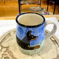 Doberman Hand-thrown ceramic mug - Handmade in the USA