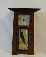 SCHLABAUGH & SONS Contemporary Craftsman Tile Clock