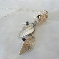 Sterling Silver Bird House Necklace Handmade in the USA