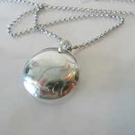 Love me, Love My Cat recycled sterling silver necklace Handmade in the USA