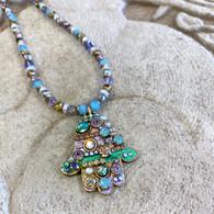 MICHAL GOLAN Pastel multi-bright Large Hamsa Necklace