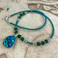 SEA OF GLASS Green Gold Necklace