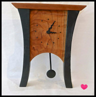 SABBATH-DAY WOODS Black Cherry Pendulum Mantle Clock