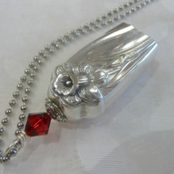 ANGEL BELL NECKLACE Crimson Swarovski Crystal 1950 Daffodil Necklace 153
