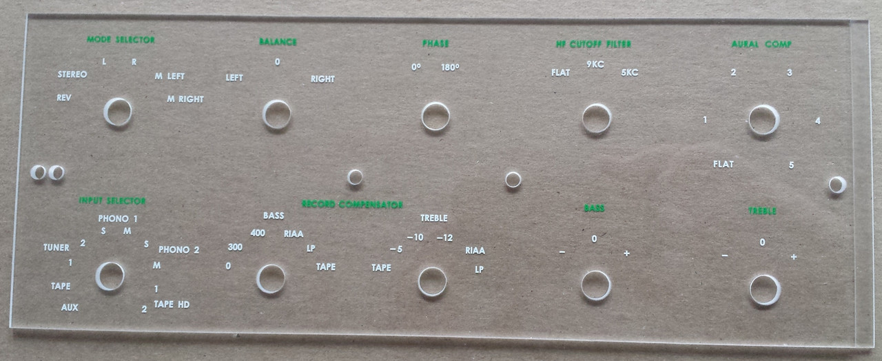 McIntosh C20 Front Faceplate (Early Version) (Item: DG-207