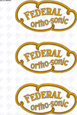 Federal Orthosonic Decal - Gold and Black (Item: DCL-FL-ORTHO1)