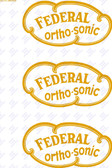 Federal Orthosonic Decal - Gold Only Version (Item: DCL-FL-ORTHO2)