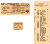 Silvertone Label Set-Model 4664 (Item: LBL-SL-4664)