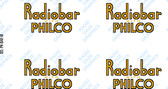 Philco Radiobar Decals (DCL-PH-BAR-W)