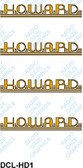 Howard Logo-Gold and Black (Item: DCL-HD1)