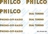 Philco 46-1201 Decal Set (Item: DCL-PH-46-1201)