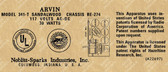 Arvin 341-T Label (LBL-ARVIN-341-T)