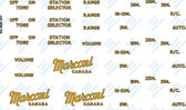 Canadian Marconi Model 207 Decal Set (Item: DCL-MAR-207)