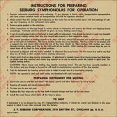 Classic Symphonola Preparation Chart (Item: (LBL-SBG-010)