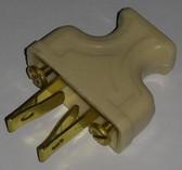 Wide White Non-Polarized Plug (Item: PWP-5)