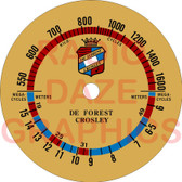 Deforest Crosley 1621 Dial (Item: DS-A695)