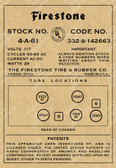 Firestone Model 4-A-61 Label (Item: LBL-FR-4-A-61)