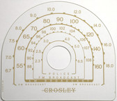 Crosley Dial Glass Models 148CP-CQ-CR (Item: DG-343)
