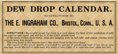Ingraham Dew Drop Calendar Directions Label (Item: LBL-ING-DEWDROP1)