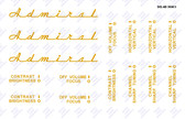 Admiral Model 30A15 Television Decal Set (Item: DCL-AD-30A15)