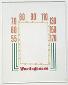 Canadian Westinghouse Model 568 Dial Glass (Item: DG-390)