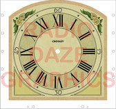 Crosley Model 124 Playtime Clock Face (DS-A743)