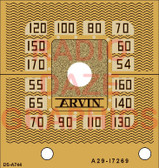 Arvin Model 524 Dial (Gold Version) (Item: DS-A744G)