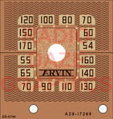 Arvin Model 524 Dial (Copper Version) (Item: DS-A744C)