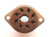 8 Pin Octal Molded-In-Plate Style Socket (Brown) (Item: NOS-SKT-35)