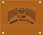 RCA SC-88 S-Meter Cover (Item: DS-FP-SC88-SMETER)