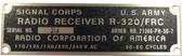 RCA R-320/FRC, SC88 ID Plate (FP-RC-SC88-ID)