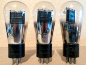 Three Globe Type 45 Vacuum Tubes