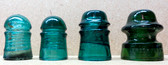 Brookfield Glass Insulators - Set of 4