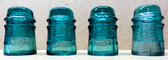 American Telephone & Telegraph Glass Insulators - Set of 4