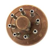 """8 Pin """"CP"""" Style Plug - Brown Phenolic (Item: PLG-8-P1-BRN)"""