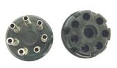 """7 Pin """"CP"""" Style Plug - Brown Phenolic (Item: PLG-7-P1)"""