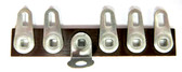 Terminal Strip, 5 lugs,1 ground/mount, package of 5 (Item: TS5-G)
