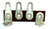 Terminal Strip, 3 lugs,1 mount/ground, 1 mount, package of 5 (Item: TS3-H)