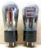 Pair of Cunningam Globe 71A Vacuum Tubes-Used -Fully Tested (Item: RDW-107)