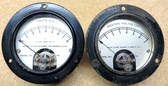 Two Vintage Weston Type 301 Direct Current Panel Mount Voltmeters - Used (Item: RDW-114)