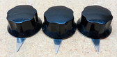 Set of Three Bakelite Knobs w/Metal Pointers - Used (Item: RDW-119)