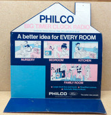 "Philco ""Big Timer Clock Radio"" Display Sign (Item: RDW-144)"