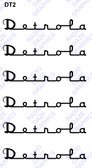 Detrola-6 decals (Item: DCL-DT2)