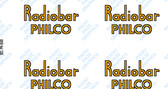 Philco Radiobar Decals (Item: DCL-PH-BAR)