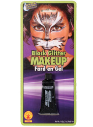 Black Glitter Gel Halloween Makeup