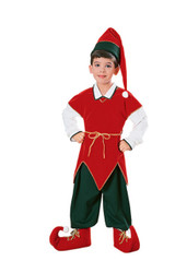 Child Velvet Elf Costume