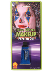 Blue Glitter Gel Halloween Makeup